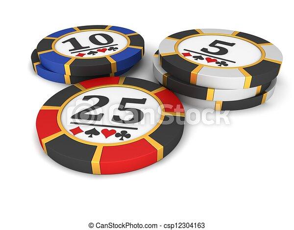 Chips de casino - csp12304163