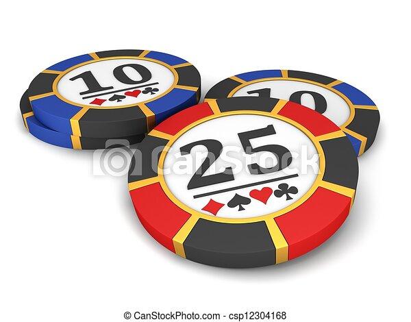 Chips de casino - csp12304168