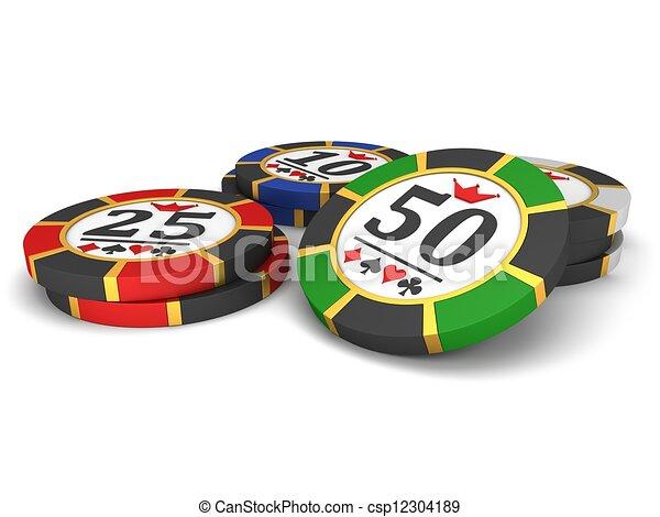 Chips de casino - csp12304189