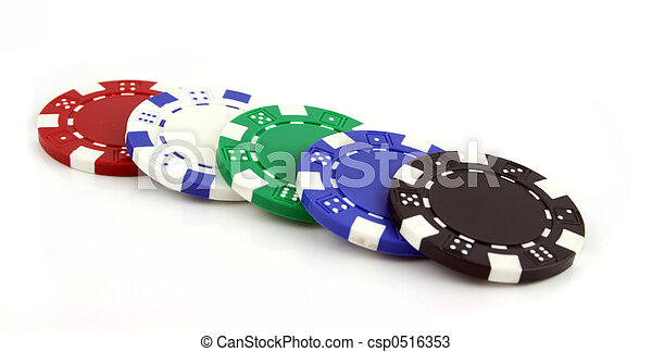 Chips de póker en un fondo aislado - csp0516353