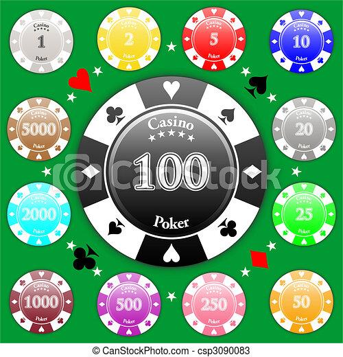 Chips de póquer - csp3090083