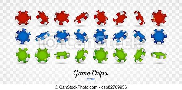 pedacitos, mostrar, diferente, ángulos, póker - csp82709956