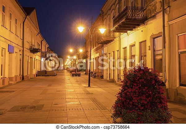 Pedestrian area in Suwalki - csp73758664
