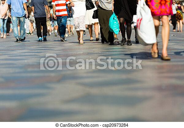 Pedestrian area - csp20973284