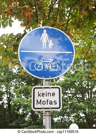 Pedestrian area sign - csp11169516