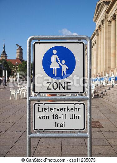 Pedestrian area sign - csp11235073