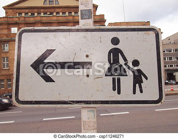 Pedestrian area sign - csp11246271