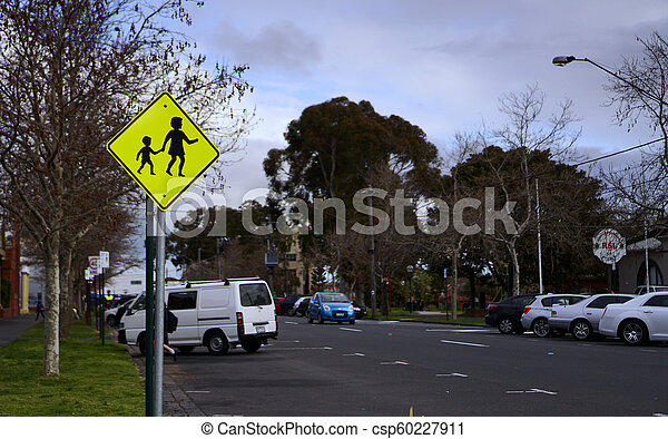 Pedestrian area sign - csp60227911