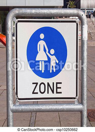 Pedestrian area sign - csp10250662