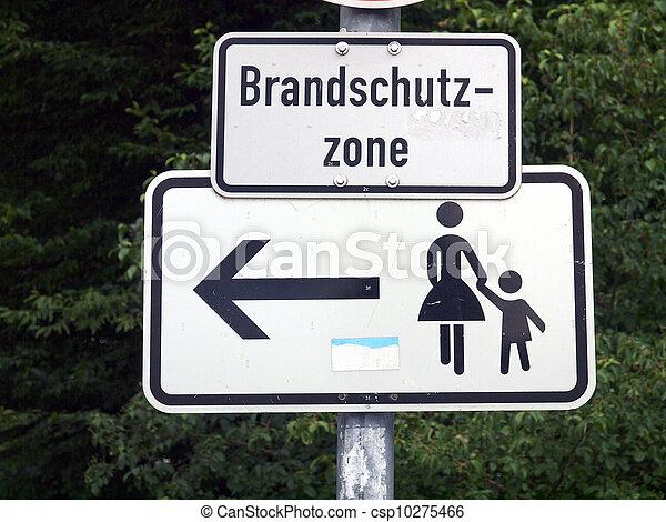 Pedestrian area sign - csp10275466