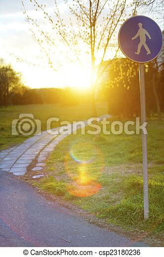 Pedestrian area - csp23180236
