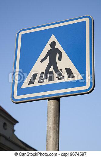 Pedestrian Crossing Sign - csp19674597