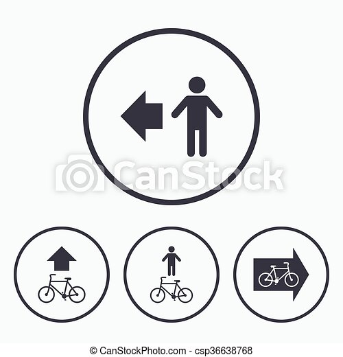 Pedestrian road icon. Bicycle path trail sign. - csp36638768
