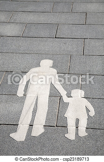 Pedestrian Sign on Street in Helsinki - csp23189713