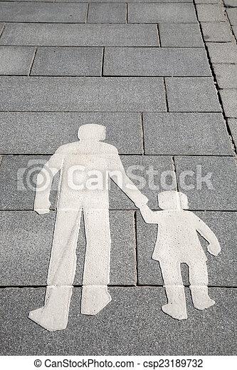 Pedestrian Sign on Street in Helsinki - csp23189732