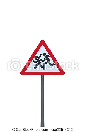 Pedestrian sign - csp22514312