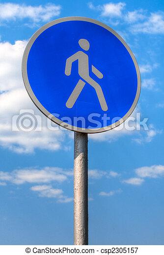pedestrian sign - csp2305157