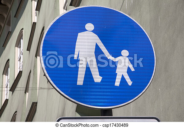 Pedestrian Sign - csp17430489