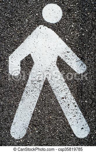 Pedestrian sign - csp35819785