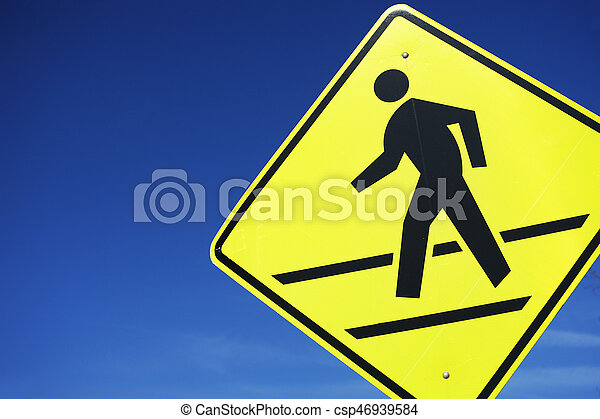 pedestrian sign - csp46939584