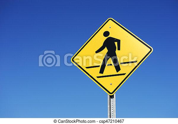 pedestrian sign - csp47210467