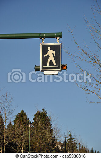 Pedestrian sign - csp5330816