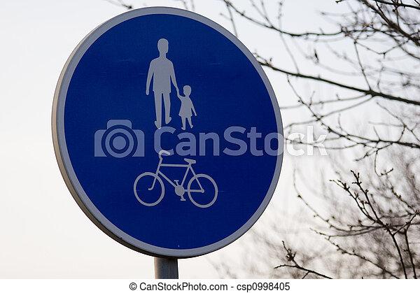 Pedestrian sign - csp0998405