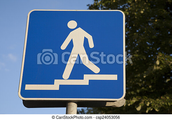 Pedestrian Sign - csp24053056