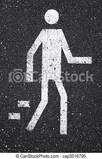 Pedestrian sign - csp3516795