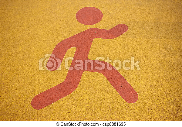 Pedestrian sign - csp8881635