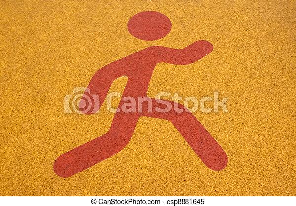 Pedestrian sign - csp8881645