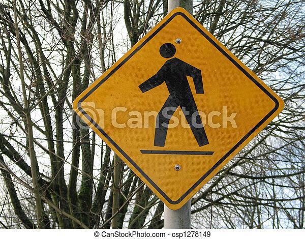 pedestrian sign - csp1278149