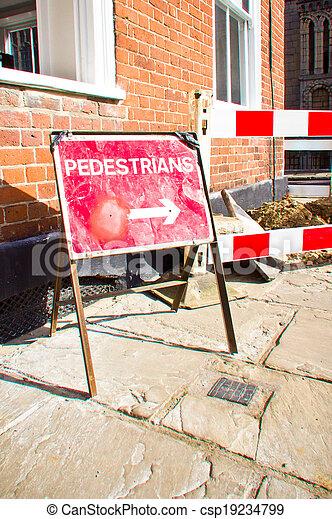 Pedestrian sign - csp19234799
