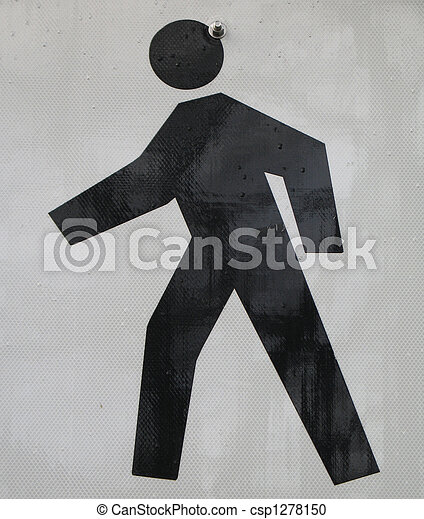 pedestrian sign - csp1278150