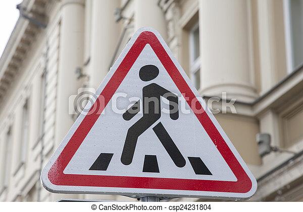 Pedestrian Sign - csp24231804
