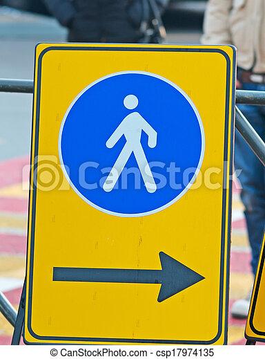 pedestrian sign - csp17974135
