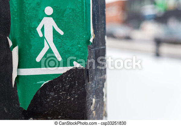 Pedestrian sign - csp33251830