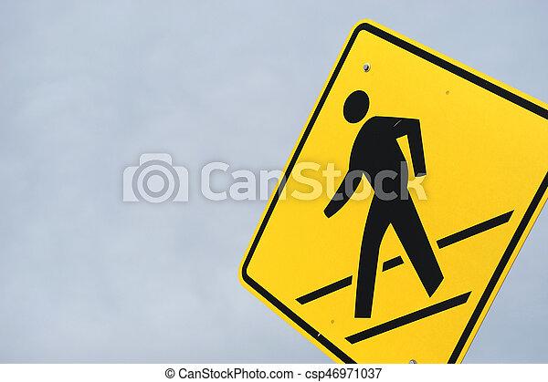 pedestrian sign - csp46971037