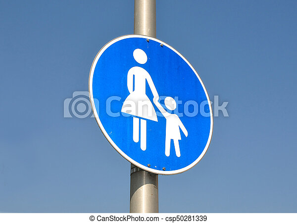 Pedestrian sign - csp50281339