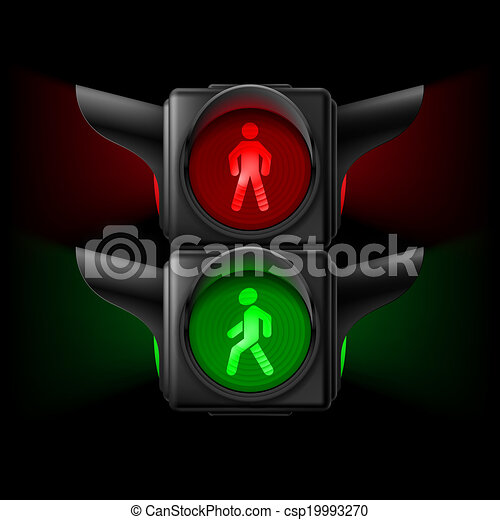 Pedestrian traffic light - csp19993270