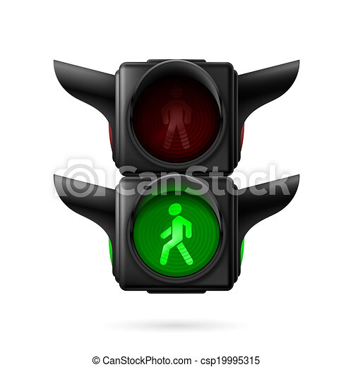 Pedestrian traffic light - csp19995315