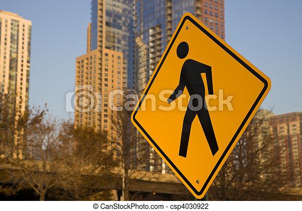 Pedestrians! Be careful! - csp4030922