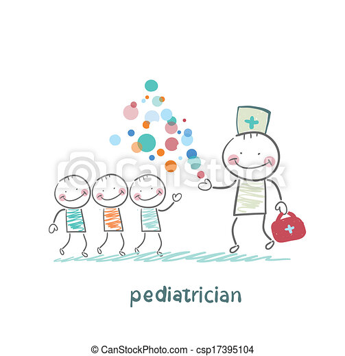 pediatrician shows children miracle - csp17395104