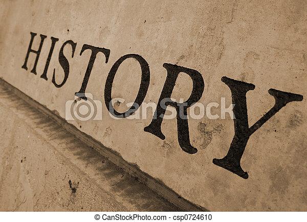 pedra, esculpido, história - csp0724610