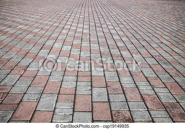 pedra, rua, pavimento, estrada, textura - csp19149935