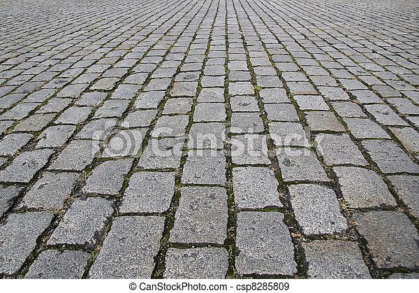pedra, rua, pavimento, estrada, textura - csp8285809