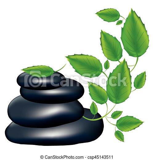pedras, planta, silueta, cor, creeper, lava - csp45143511