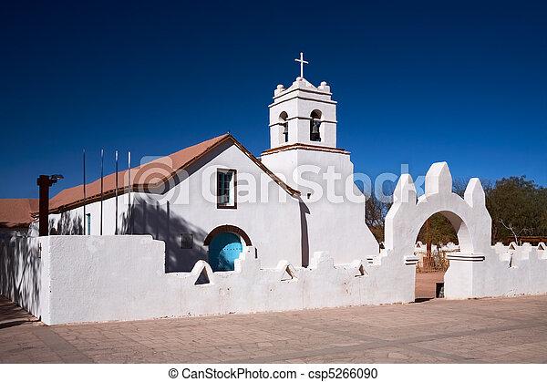 La Iglesia de San Pedro, un monumento nacional, San Pedro de Ryderma, Chile - csp5266090
