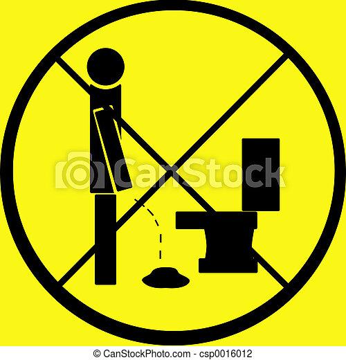Pee Floor Sign warn - csp0016012