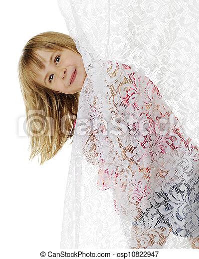 Peek-a-Boo Curtain - csp10822947
